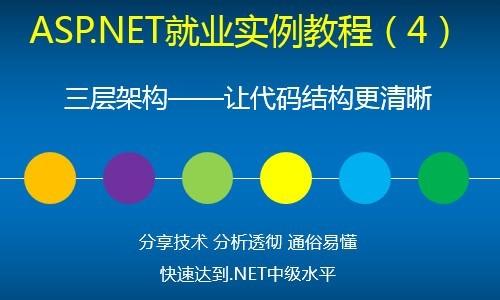 ASP.NET就业实例视频教程(4)三层架构——让代码结构更清晰