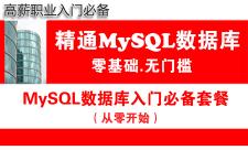 MySQL教程(第壹月):MySQL数据库零基础系统入门学习