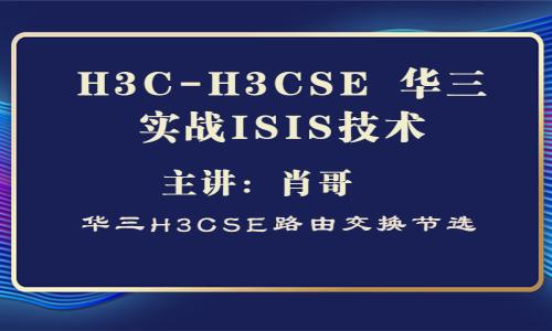 H3C-H3CSE 华三实战ISIS技术[肖哥视频教程]