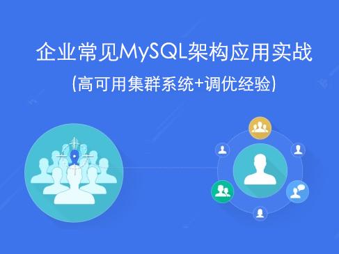 企业常见MySQL架构应用实战(高可用集群系统+调优经验)视频课程