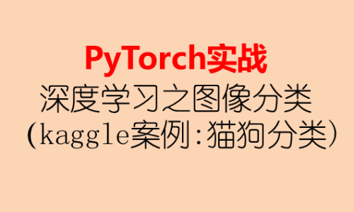 PyTorch实战-深度学习之图像分类(kaggle 案例: 猫狗分类)