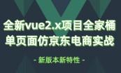 全新版本 VUE 入门与提升实战视频教程