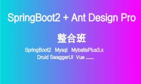 SpringBoot2+SpringSecurity+Vue+Ant Design企业中台后台实战