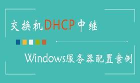交换机DHCP中继Windows服务器配置案例